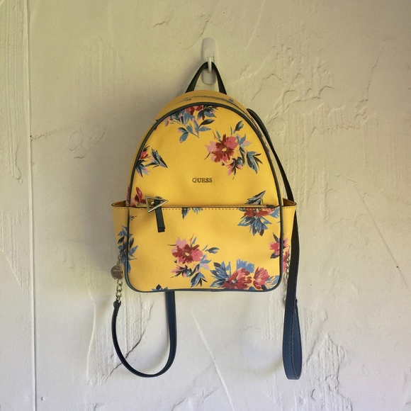 ac9651fb245 Guess Bags   Evans Floral Backpack Yellow Flowers New   Poshmark